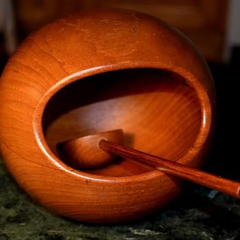 Sowe Konst Teak Orb Bowl Sovestad Sweden - Nut Bowl? - Mid-Century Modern