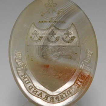 "Onyx Wax Seal, Moto "" nil desperandum ""Age Unknown  - Office"
