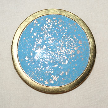Vintage Enamel Compact, Possibly Made in Germany