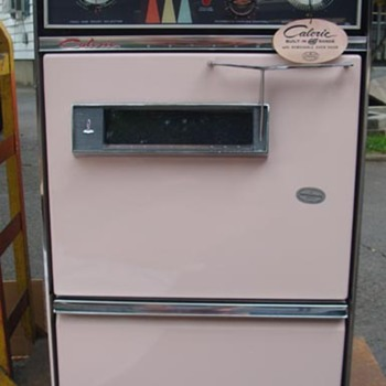 New old stock (NEVER USED W/ORIGINAL BOXES) 1962 CALORIC PINK KITCHEN, OVEN, STOVE, SINK, HOOD, BACK SPLASH