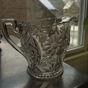 Pressed glass pitcher!