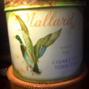 Mallard Tobacco Tin