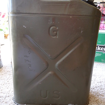 An old U.S. Army gas can.  - Military and Wartime