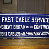 early enamel cable sign