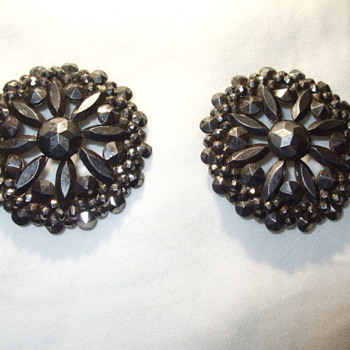 Pair of Elaborate Georgian/Victorian CUT STEEL Shoe Buckles