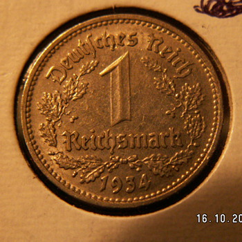 1 Reichsmark 1934 Germany - World Coins