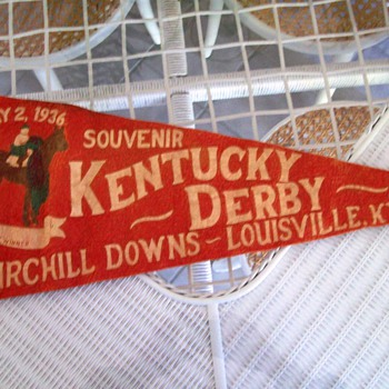 1936 Kentucky Derby Souvenir Pennant and Program - Advertising