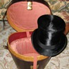 Antique Silk Top Hat and Leather Case