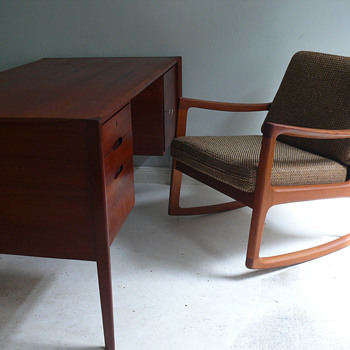 wilhelm renz desk & france & son rocker