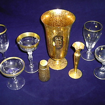 These items were made for JFK's inauguration dinner. If someone has more info please reply. - Glassware