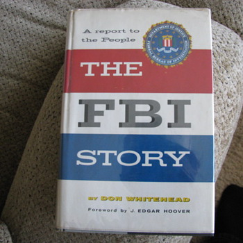 Autographed Book F.B.I Story J. Edgar Hoover