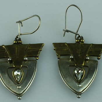 Intresting silver and copper earrings