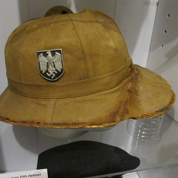 WWII German Army Africa Corps Pith Helmet