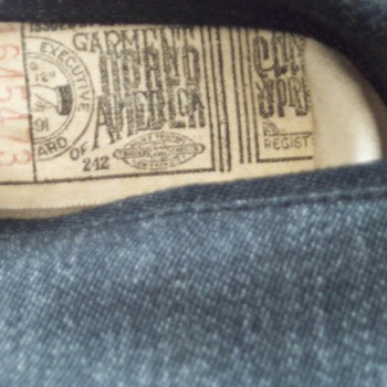 "Brand New ""1930s"" pants ""United Garment Workers of America"""