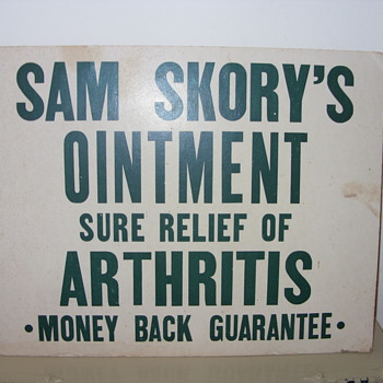 SAM SKORYS OINTMENT - Signs