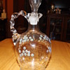 HAND BLOWN CRUET STYLE DECANTER
