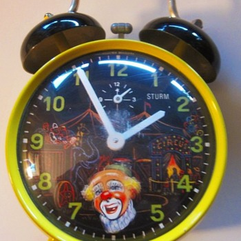 For Celiene ..... Animated Circus Clown Alarm Clock - Clocks