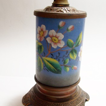 Painted Victorian Lamp