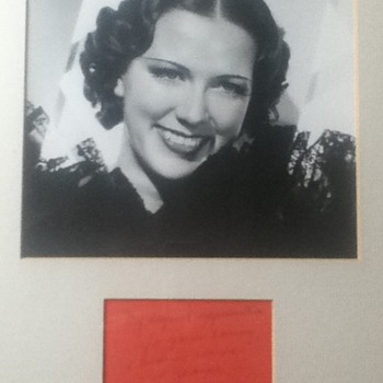 Eleanor Powell Signed Notecard - Movies
