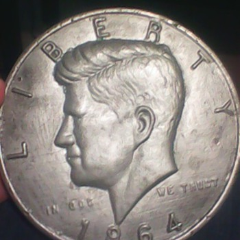 Jfk one sided half dollar 9 inch diamiter 