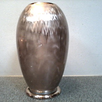 "WMF ""Ikora"" Silverplated 10"" Vase / Stunning Art Deco Design /Pattern Circa 1925-1950"