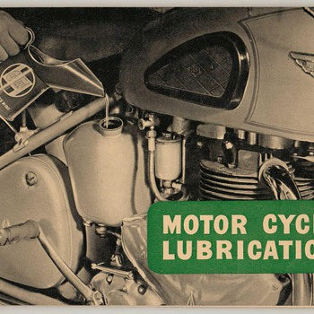 1955 Castrol Oil Motorcycle Care Guides - Paper