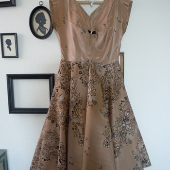 1950&#039;s Taffeta Party Dress