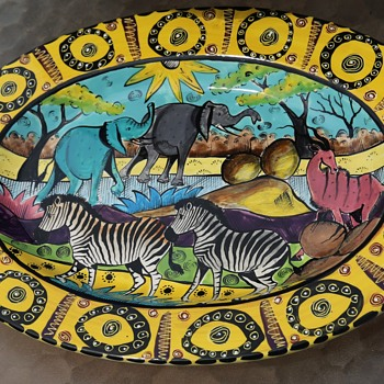 Penza Pottery Platter from Zimbabwe - 2004 - Art Pottery