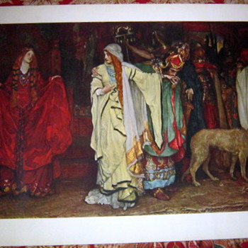 Vintage Art Print by Raymond &amp; Rissling Inc 14&quot; x 30&quot;
