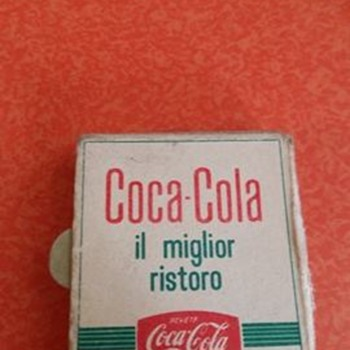 Coca cola matchbook