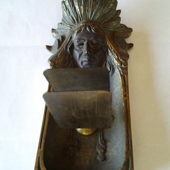 Brass Indian Head Ashtray