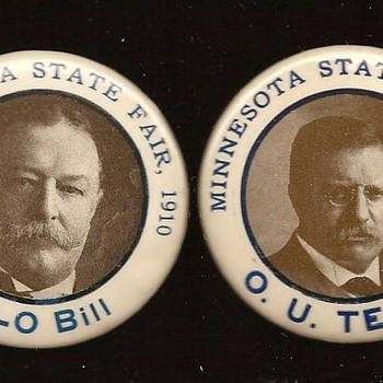 Minnesota State Fair Teddy & Taft - Medals Pins and Badges