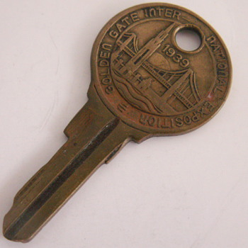 1939 Golden Gate Inter-National Expo Key - Tools and Hardware