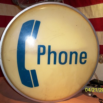 "My 24"" Dual Sided Illuminated Phone Booth Sign !"