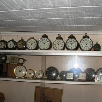 "Here are a few ""tin can"" and alarm clocks"