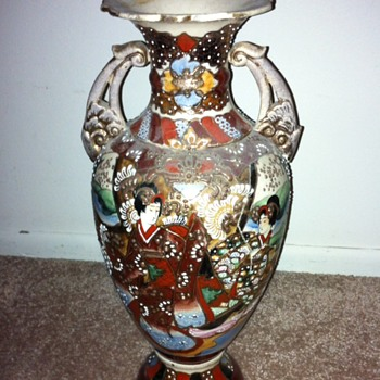 Grandmother's Japanese Vase - Moriage? - Asian