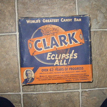1930s clark candy box - Advertising