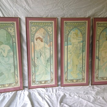 "Alphonse Mucha ""Times of the Day"" prints"