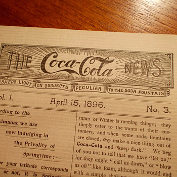 1896 The Coca-Cola News, extremely rare newsletter - Coca-Cola