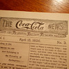 1896 The Coca-Cola News, extremely rare newsletter
