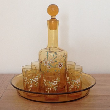 Legras: rare and wondeful liqueur glass and decanter - Art Nouveau