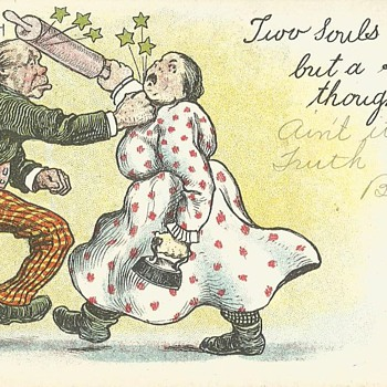 Domestic Violence in 1906? - Postcards
