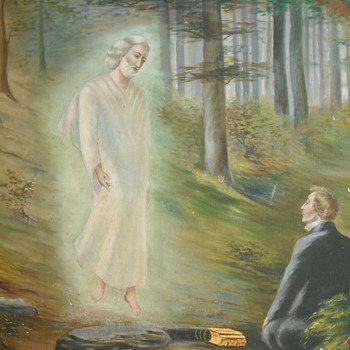 LDS Religious painting of Joseph Smith - Art Deco