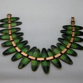 Matisse Nefertiti copper enamel bracelet