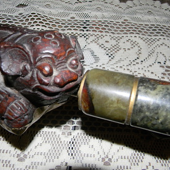 Unique Pipe and Opium Box - Tobacciana