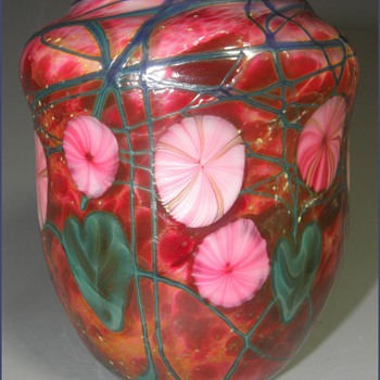 My Mom & A George Machart Art Glass Vase