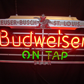 Bud On Tap Art Deco neon