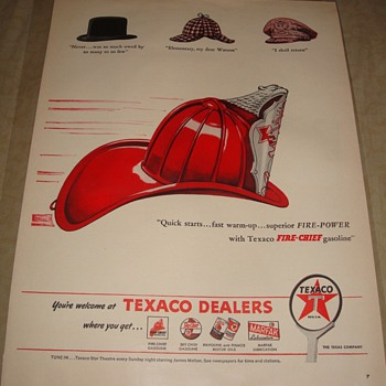 Texaco Fire Chief Magazine Ad - Advertising