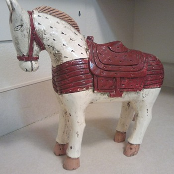 My wooden horse/pony - Folk Art