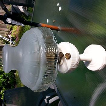 Aladdin Model 23B Swag Milk Glass Oil Lamp
